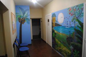 Sienas gleznojums Saulkrastu slimnīcā